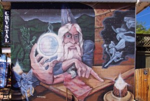 Mural on side of shop in Manitou Springs, Colorado