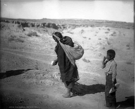 Patient Toil - Moki pueblos, Arizona (between 1898 and 1905) b&w
