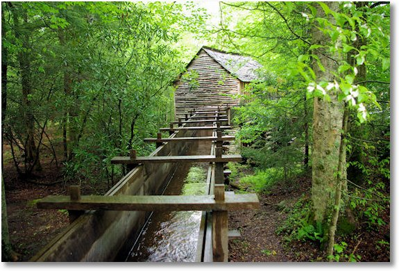 mill and raceway, Cades Cove, Great Smoky Mountains National Park, Tennessee 5-5-09
