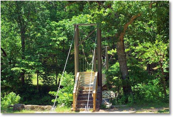suspension foot bridge, Devils Den State Park, Arkansas