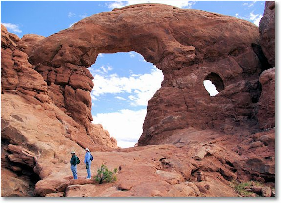 Turret Arch, Arches National Park, Utah, 9-24-2007
