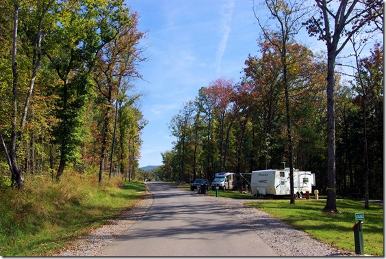 Campground, Lake Fort Smith State Park, Arkansas, October 20, 2008