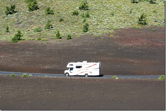 Class C Motorhome at Craters of the Moon National Monument