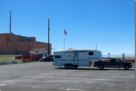 Nash 5th Wheel RV towed by a Dodge Ram 2500 truck at Experimental Breeder Reactor 1 (EBR1) at the Idaho national Laboratory