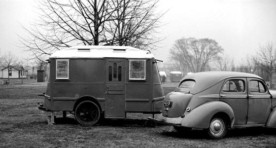 Trailer at tourist camp Washington DC