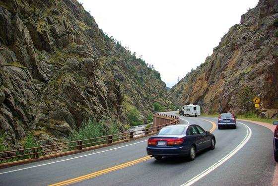 Keystone Laredo fifthwheel trailer in Big Thompson Canyon, September 4, 2009.