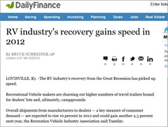 RV industry recovery