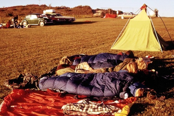 Some of the Students Camped Out While Attending the Second Annual Tallgrass Prairie National Park Conference Held at a Ywca Camp at Elmdale, Kansas