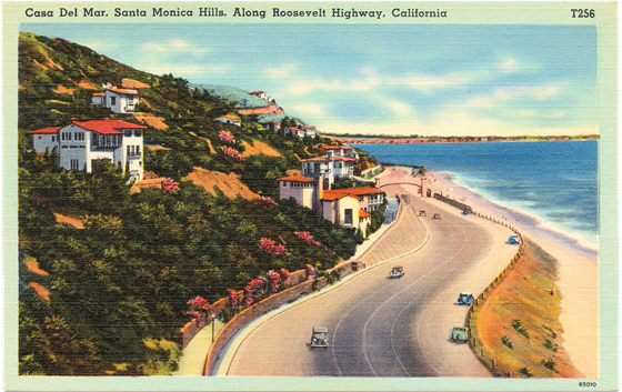 Casa Del Mar, Santa Monica Hills, Along Roosevelt Highway, California