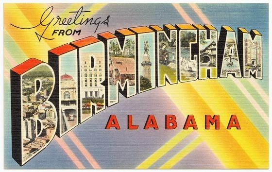 Greetings from Birmingham, Alabama -- vintage postcard