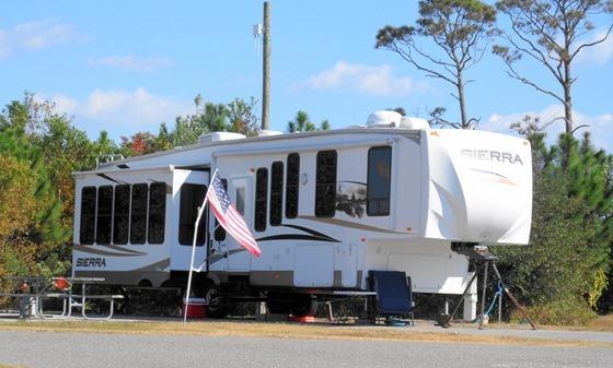 Sierra 5th wheel RV at Gulf Shores Alabama 2012