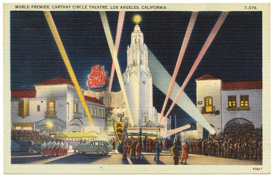 World Premier, Carthay Circle Theatre, Los Angeles, California circa 1930s - 1940s