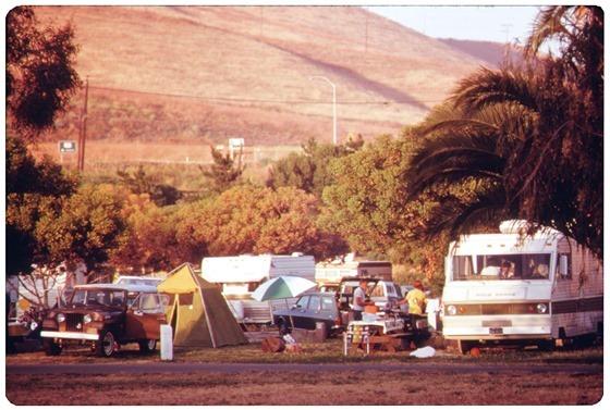 Refugio State Beach in Santa Barbara County California, north of Los Angeles 1975