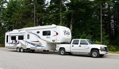 fulltime RVers living & traveling in this 2006 Cardinal fifth wheel trailer