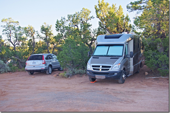 BLM boondocking - overflow camping for Natural Bridges National Monument.