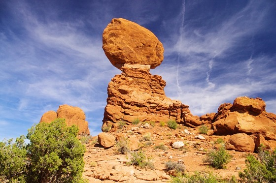 Balanced Rock trail, Arches National Park, September 22, 2011