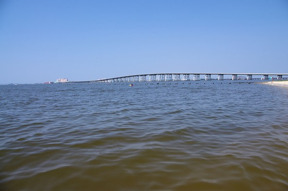 Bridge to Biloxi. Ocean Springs, Mississippi, July 2, 2011