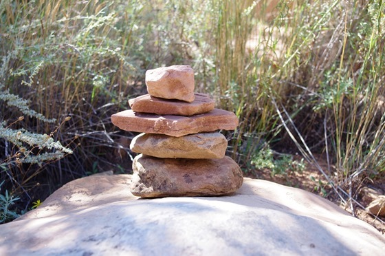 Cairn (trail marker), Colorado National Monument, September 18, 2011