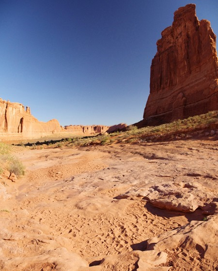 Park Avenue Canyon, Arches National Park, September 27, 2011