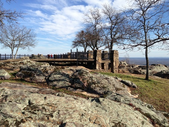 Petit Jean State Park, Arkansas; January 19, 2013; Stout's Point on the mountain's East Brow