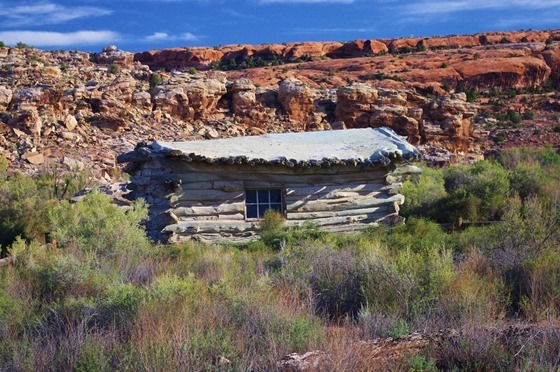 Wolfe Ranch Cabin – Trail to Delicate Arch, Arches National Park, Utah, September 21, 2011