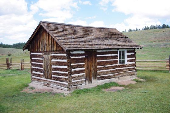 Hornbeck Homestead, log building, Florissant Fossil Bed National Monument, Colorado, September 9, 2011