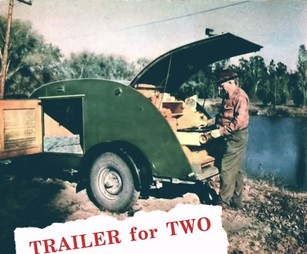◾Trailer for Two – by Hi Sibley, Mechanix Illustrated, September 1947