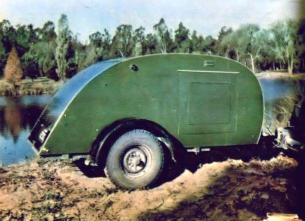 Trailer for Two – teardrop trailer from 1947 Mechanix