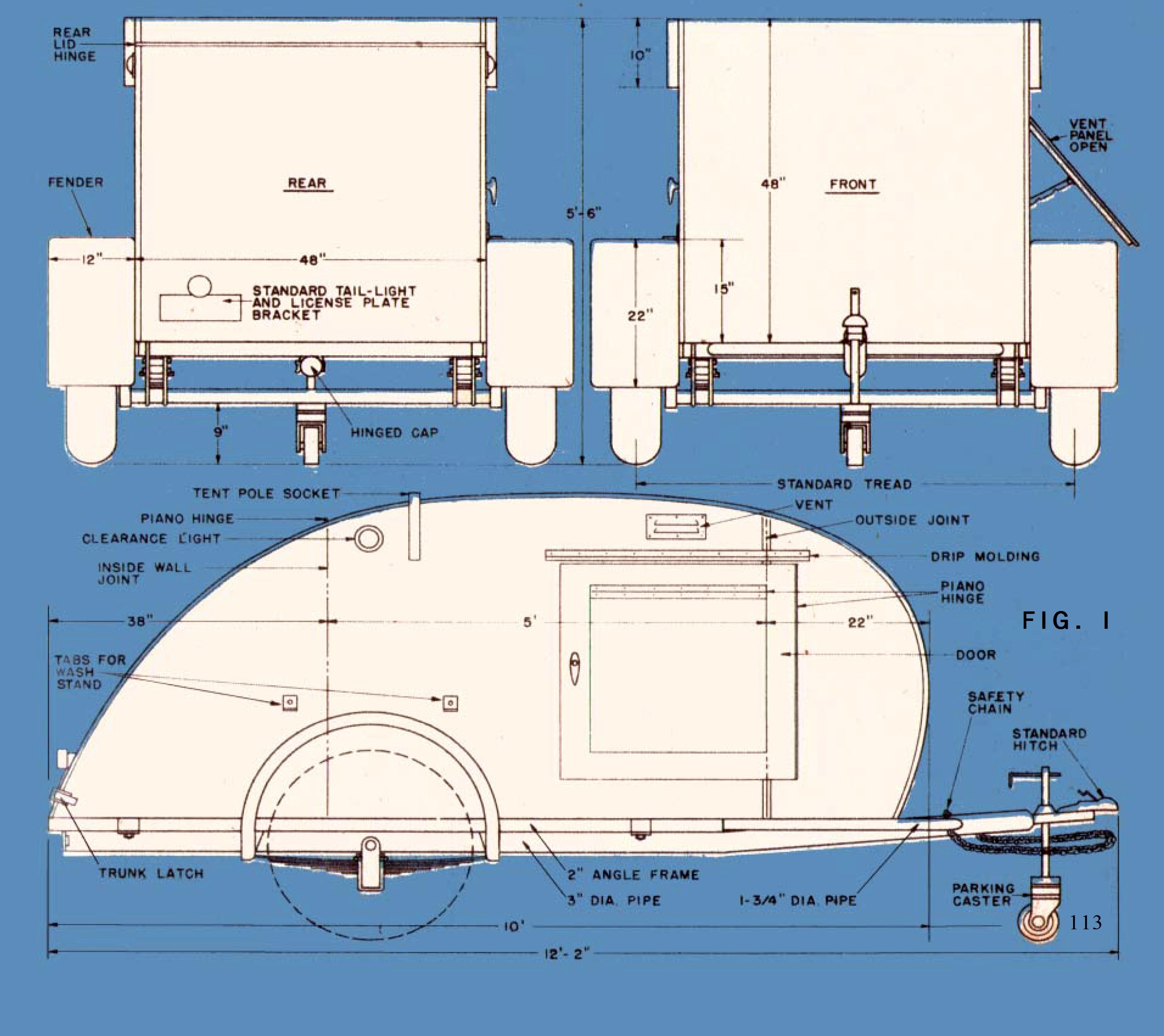 1000 images about teardrop trailers on pinterest diy for Free trailer plans