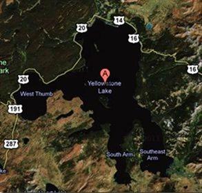 yellowstone lake small map