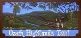 ozark highlands trail sign at Lake Fort Smith