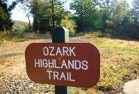 Western trailhead of the Ozark Highland Trail