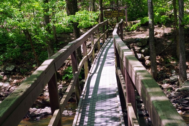Bridge over Cedar Creek, Cedar Falls Trail, Petit Jean State Park, Arkansas
