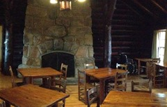 Old dining room, preserved as CCC room today in Mather Lodge, Petit Jean State Park
