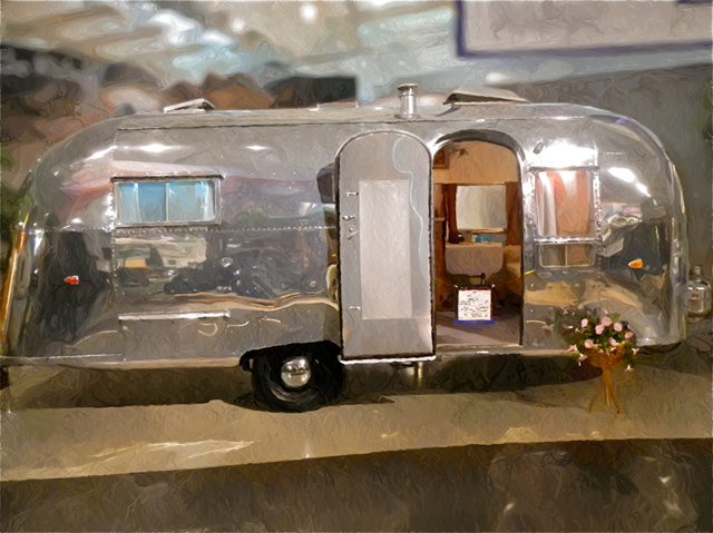 1958 Airstream Traveler; RV/MH Hall of Fame, Elkhart, Indiana