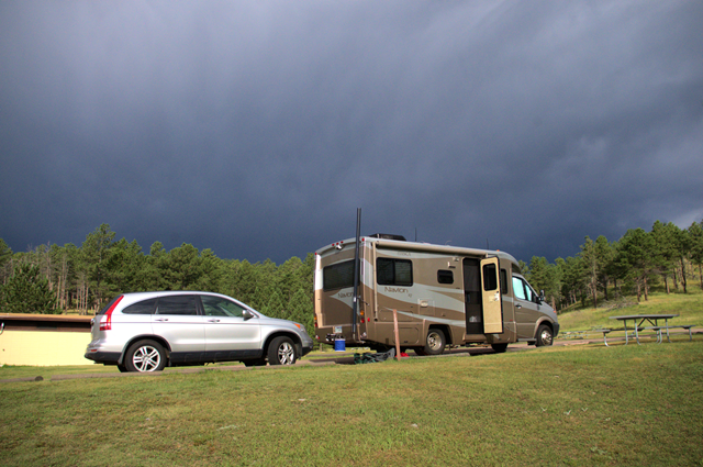 Wind Cave National Park campground, South Dakota, August 8, 2014