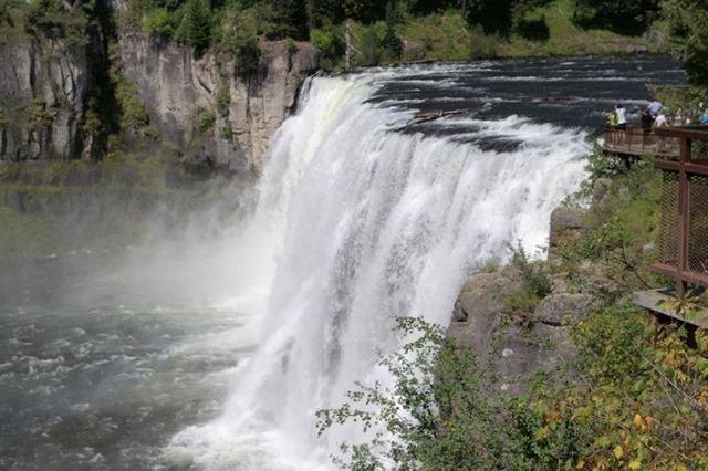 Upper Mesa Falls, Henry's Fork of the Snake River, near Ashton, Idaho,  August 16, 2014