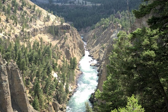Yellowstone River, Yellowstone National Park, Wyoming, August 18, 2014