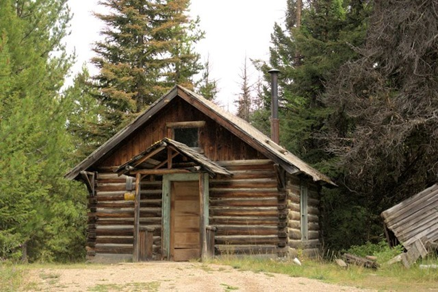 1940s fire warden cabin near Garnet, Montana, August 22, 2014