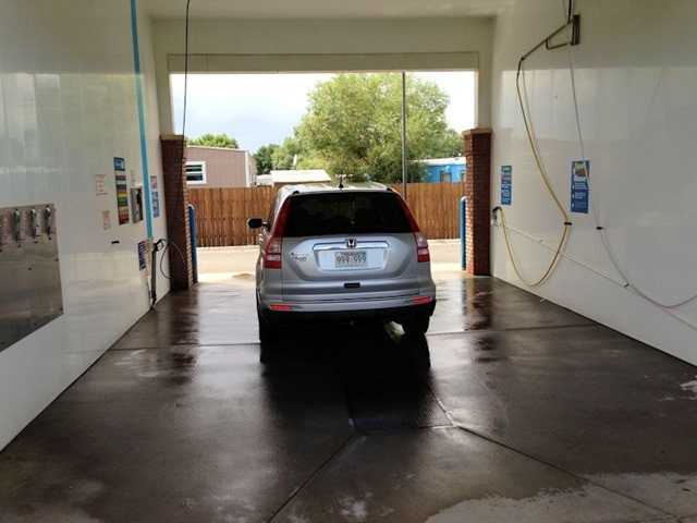 Honda CR-V in carwash in Bozeman, Montana